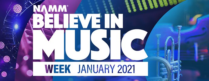 2021 NAMM Show Cancelled and replaced with Believe In Music Virtual TV