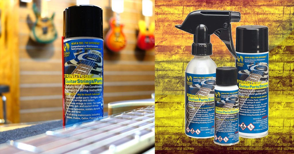 Sound Synergies Musical Instrument Care Products | STRINGTone® Guitar Parts/Strings guitar string lubricant also safely cleans spent rosin from all string instruments without harm to sensitive finishes.