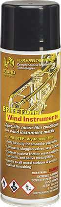 britetone 7oz aerosol single BRITETone Wind Instruments – 7 fl. oz.